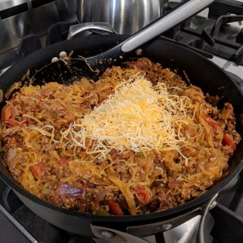 taco spaghetti add cheese