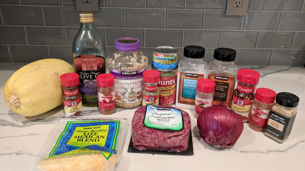 taco spaghetti ingredients widescreen