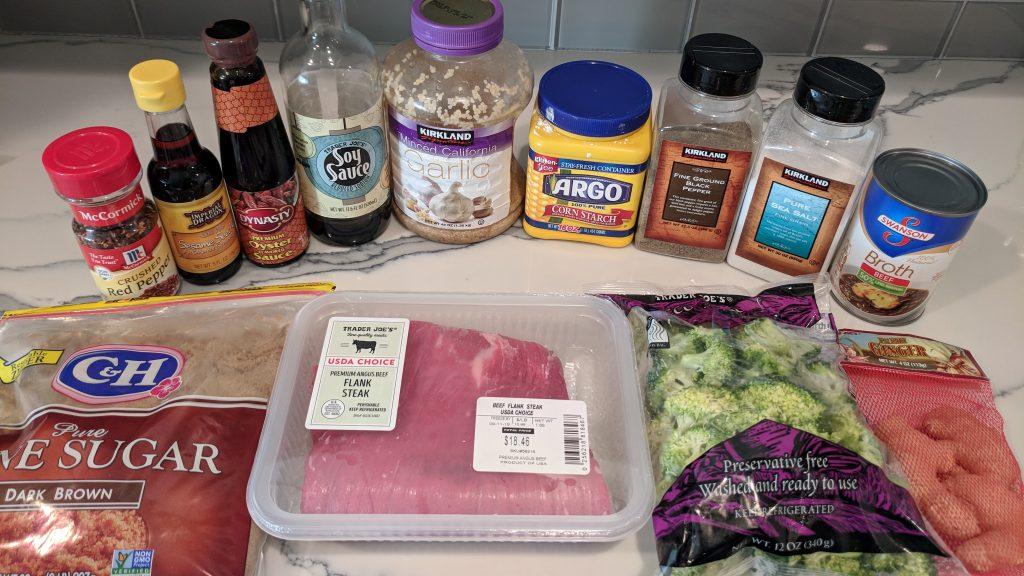 beef & broccoli ingredients