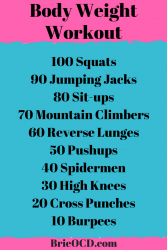 body weight workout 1