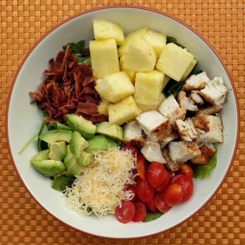 chicken bacon ranch salad final overview outside