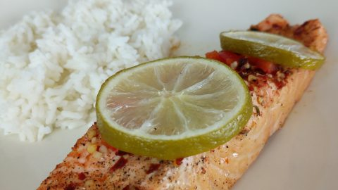 Chili Lime Glazed Salmon
