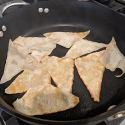 cook wontons in sesame oil