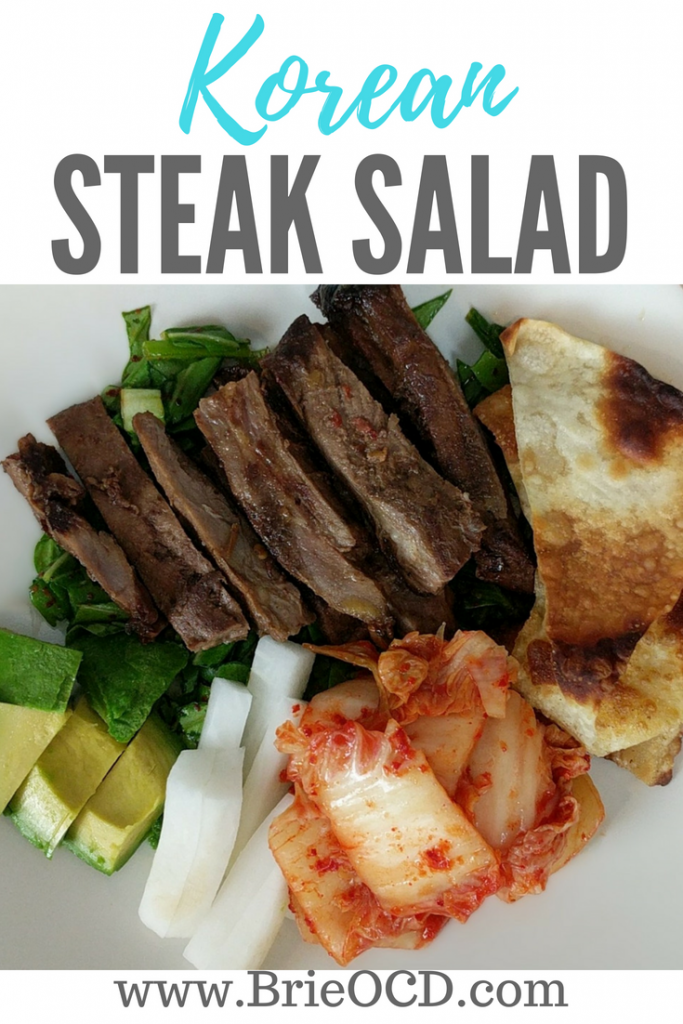 korean skirt steak salad