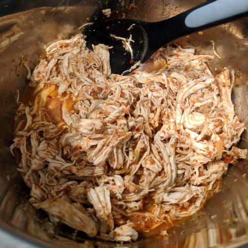 mexican tostada shredded chicken