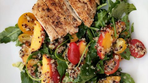 Peach & Quinoa Salad with Grilled Chicken