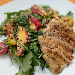 peach and quinoa salad w. grilled chicken final