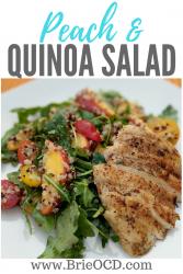peach quinoa salad w. grilled chicken