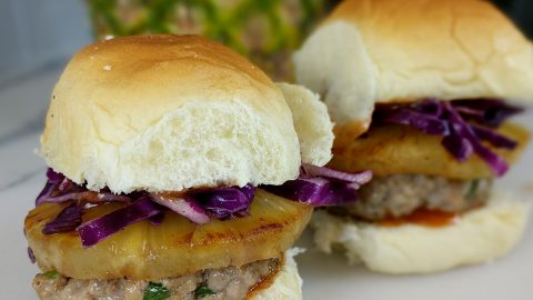 Hawaiian Pork and Pineapple Sliders