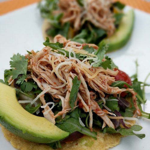 shredded chicken mexican tostada final