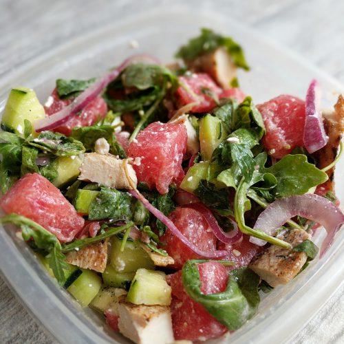 watermelon salad final w. chicken