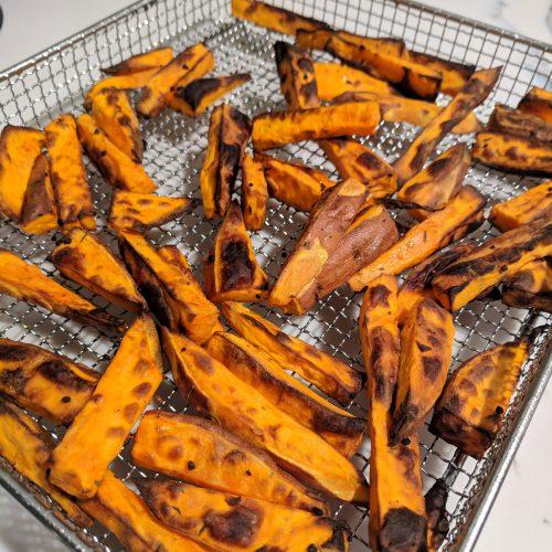 air fryer sweet potato fries cook until brown