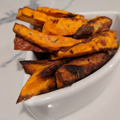 air fryer sweet potato fries final