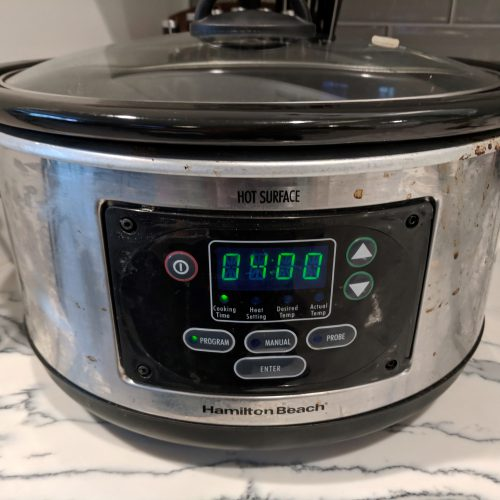 baked beans set crockpot on low for 4 hrs