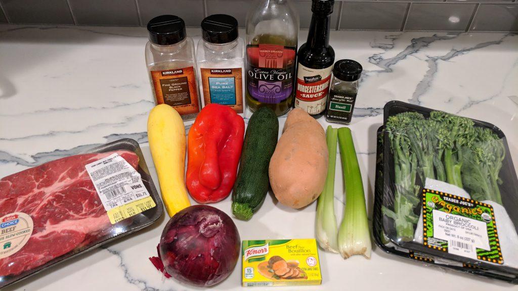 beef and veggie crock pot roast ingredients
