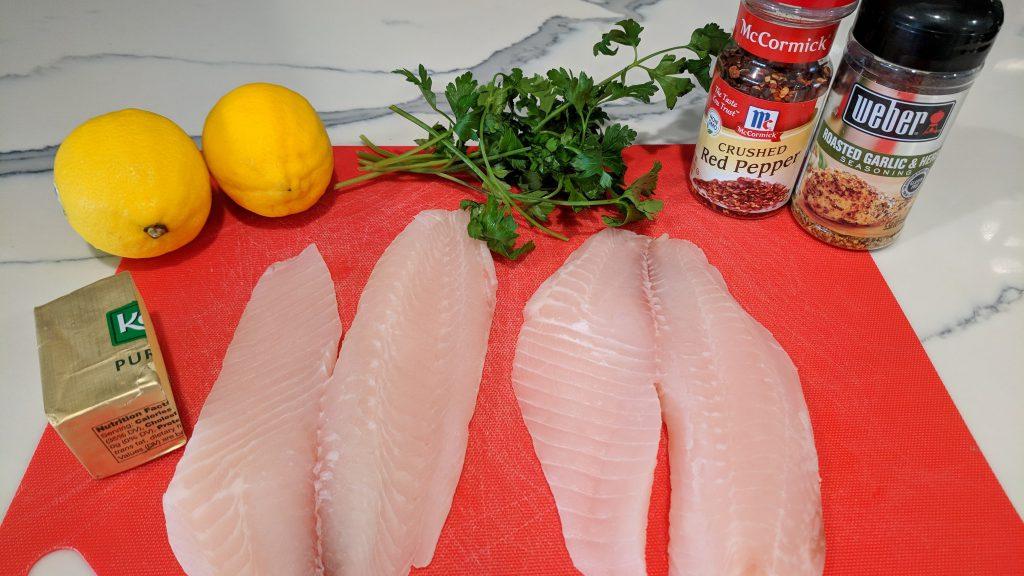 lemon garlic tilapia ingredients