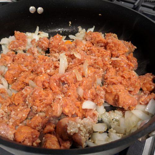 pasta fagioli add sausage