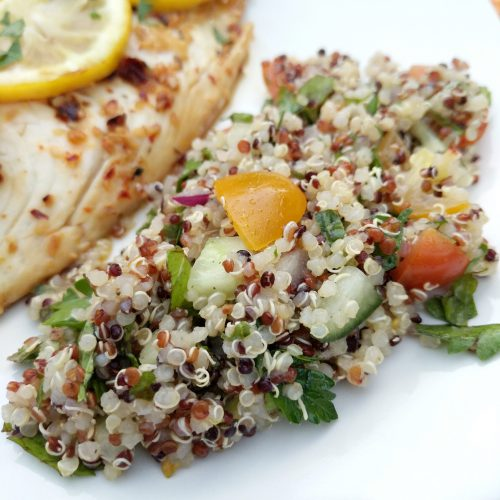quinoa salad final on plate
