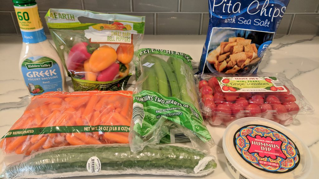 veggie platter ingredients