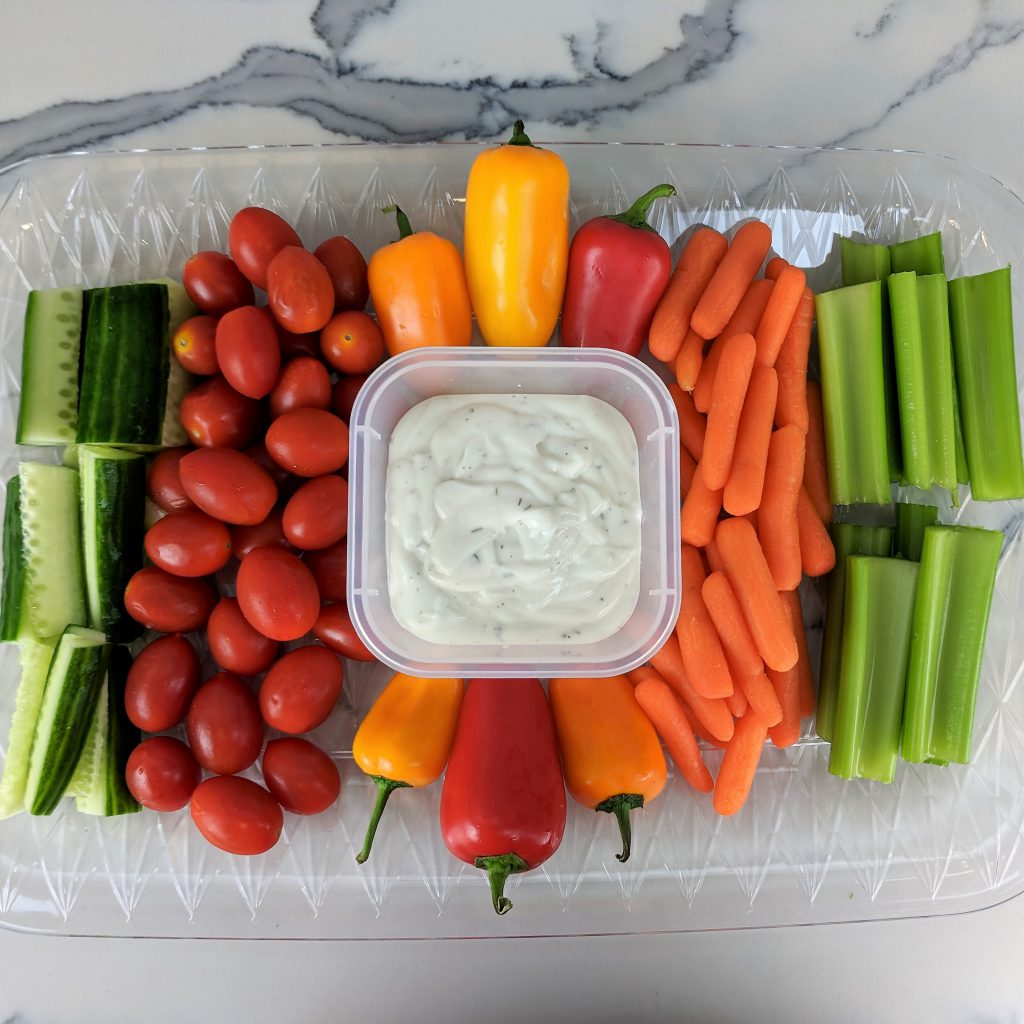 veggie platter rectangle