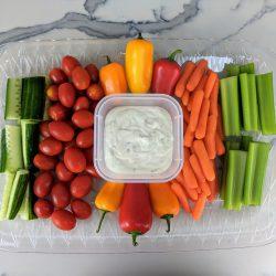 veggie platter rectangle