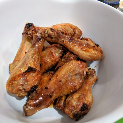 air fryer teriyaki drumettes place wings in medium mixing bowl