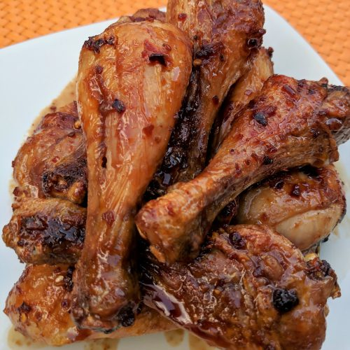 air fryer teriyaki drumettes wing pile final