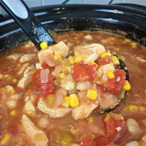 chicken white bean chili final scoop