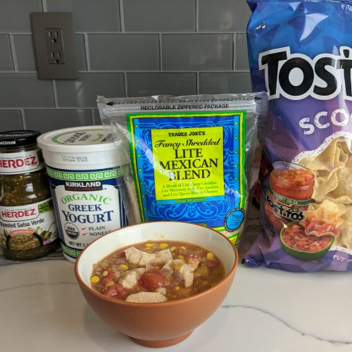 chicken white bean chili top with your favorites
