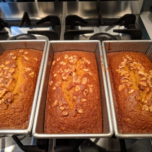 pumpkin bread let cool