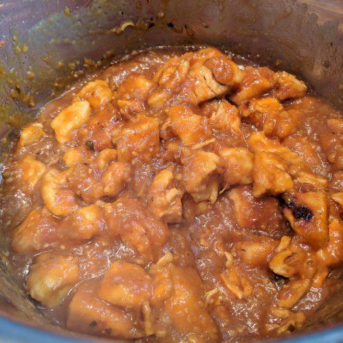 orange chicken add cornstarch slurry