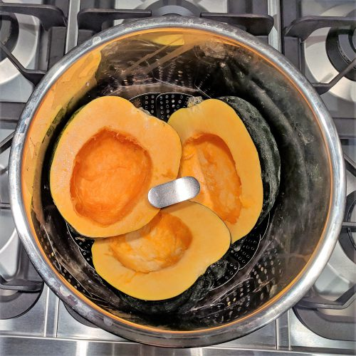 stuffed acorn squash place squash halves in instant pot