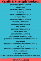 quick workout: cardio & strength