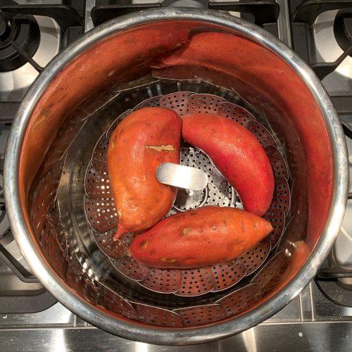 ip sweet potatoes in the pot