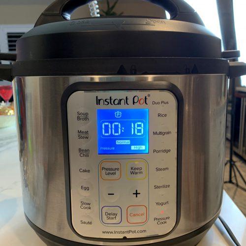 set instant pot for 18 min